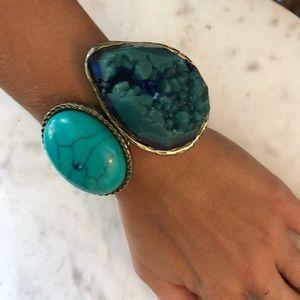 "Jewelry - Large ""turquoise"" and ""stone"" bracelet"